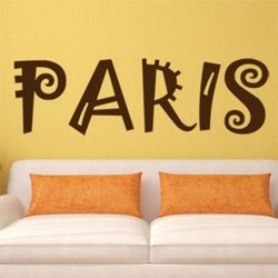 Samolepky na zeď Paříž 010