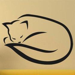 Samolepky na zeď Kočka 0485