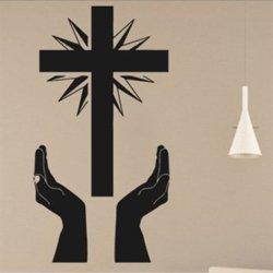 Samolepky na zeď Kříž a ruce 1378