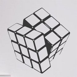 Samolepky na zeď Rubikova kostka 001