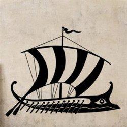 Samolepky na zeď Plachetnice vikingů 0946