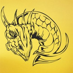 Samolepky na zeď Hlava draka 1257