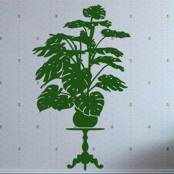 Samolepky na zeď Rostlina 016