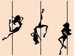 Samolepky na zeď Pole dance 0983
