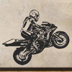 Samolepky na zeď Motorka 1021