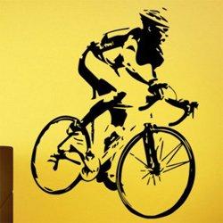 Samolepky na zeď Cyklista 1038