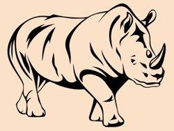 Samolepky na zeď Nosorožec 001
