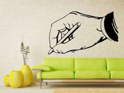 Samolepky na zeď Píšící ruka 0241
