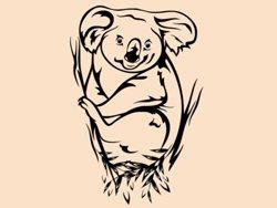 Samolepky na zeď Koala 002