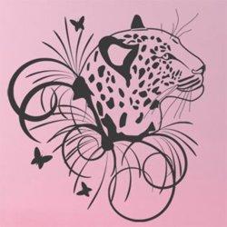 Samolepky na zeď Leopard 003