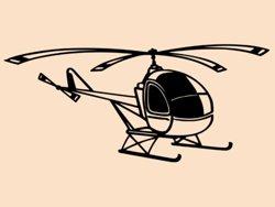 Samolepky na zeď Helikoptéra 006