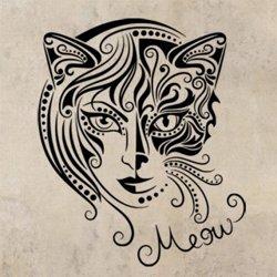 Samolepky na zeď Kočičí žena 0470
