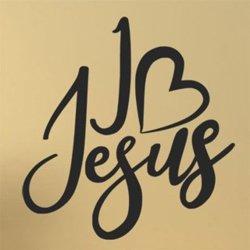 Samolepky na zeď Nápis I love Jesus 0658
