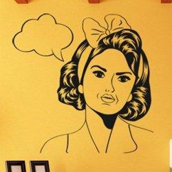 Samolepky na zeď Retro žena z komiksu 1068