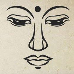 Samolepky na zeď Budhův obličej 1290