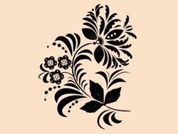 Samolepky na zeď Ornamenty z rostlin 039