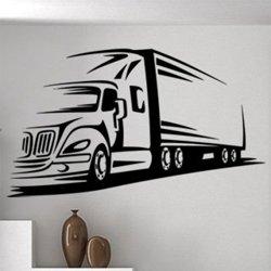 Samolepky na zeď Kamion 0744