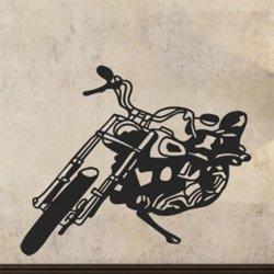 Samolepky na zeď Motorka 001