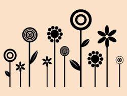 Samolepky na zeď Květiny 012