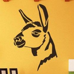 Samolepky na zeď Hlava lamy 0613