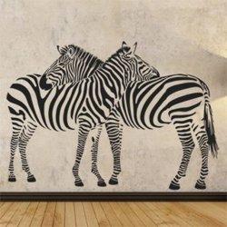 Samolepky na zeď Zebra 002