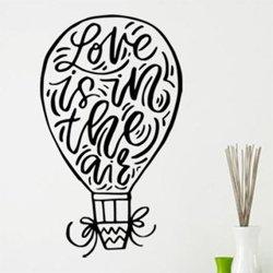Samolepky na zeď Nápis Love is in the air 0639