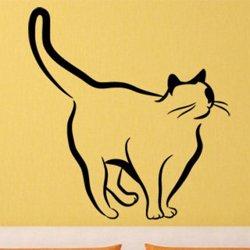 Samolepky na zeď Kočka 0445