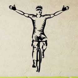 Samolepky na zeď Cyklista 1043