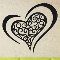 Samolepky na zeď Srdce 0259