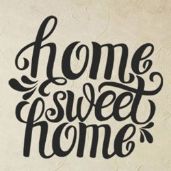 Samolepky na zeď Nápis Home Sweet Home 0624