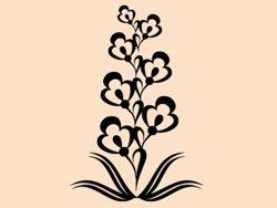 Samolepky na zeď Ornamenty z rostlin 020