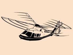 Samolepky na zeď Helikoptéra 003