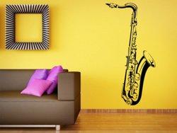 Samolepky na zeď Saxofon 001