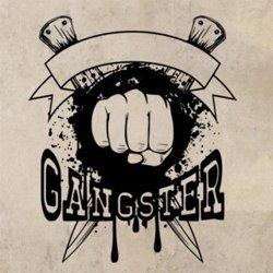 Samolepky na zeď Nápis Gangster 1123