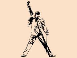 Samolepky na zeď Freddie Mercury 1363