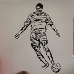 Samolepky na zeď Fotbalista 016