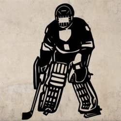 Samolepky na zeď Hokejista 003