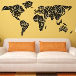 Samolepky na zeď Mapa světa 1231