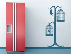 Samolepky na zeď Ptáci v kleci 001