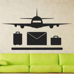 Samolepky na zeď Letadlo 0834