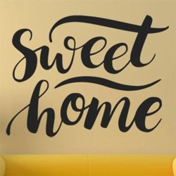 Samolepky na zeď Nápis Sweet Home 0625