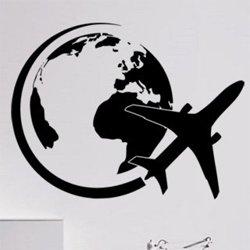 Samolepky na zeď Letadlo 0848