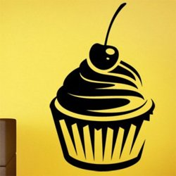 Samolepky na zeď Cupcake 0142