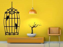Samolepky na zeď Ptáci v kleci 0242