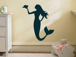 Samolepky na zeď Mořská panna 0284