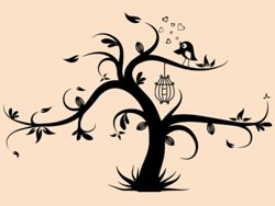 Samolepky na zeď Strom zamilovaných 0234