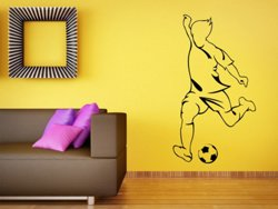 Samolepky na zeď Fotbalista 0585