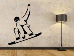 Samolepky na zeď Snowboardista 0971