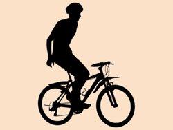Samolepky na zeď Cyklista 1045