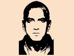 Samolepky na zeď Eminem 001
